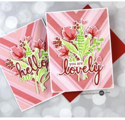 Pinkfresh Studio leimasinsetti Modern Layered Florals