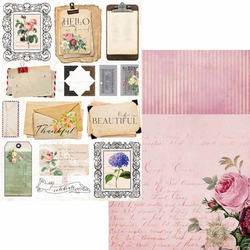 Memory Place paperipakkaus Floral Tapestry Junk Journal Kit, A4