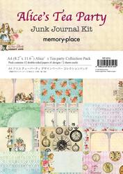 Memory Place paperipakkaus Alice's Tea Party Junk Journal Kit, A4