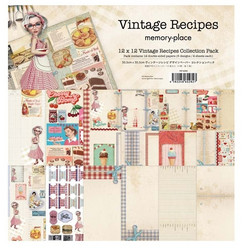Memory Place paperipakkaus Vintage Recipes, 12