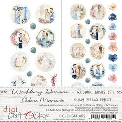 Craft O'clock paperipakkaus Wedding Dream Labels