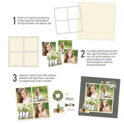 Simple Stories Simple Pages Page Template #5 -sapluuna