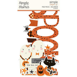 Simple Stories Simple Pages Page Pieces -leikekuvat, Halloween