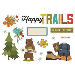 Simple Stories Simple Pages Page Pieces -leikekuvat, Happy Trails