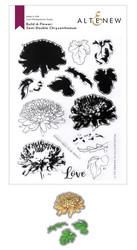 Altenew Build-A-Flower Semi-Double Chrysanthemum stanssi- ja leimasinsetti
