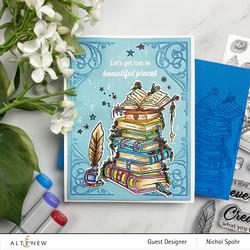 Altenew Books Are Magic -leimasinsetti