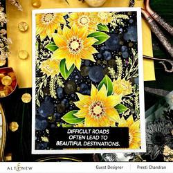 Altenew Floral Dahlia -leimasinsetti