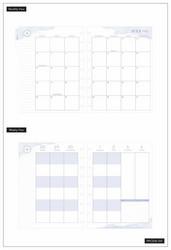 Mambi Classic Planner -kalenteri, Painterly Pastels, 18 kk päivätty