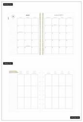 Mambi Classic Planner -kalenteri, Sophisticated Florals, 18 kk päivätty