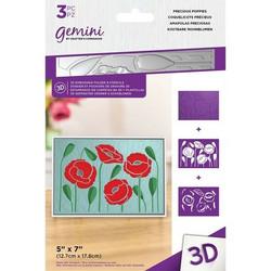 Gemini 3D kohokuviointikansio ja sapluuna Precious Poppies