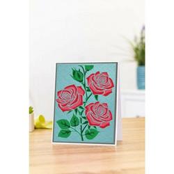 Gemini 3D kohokuviointikansio ja sapluuna Lovely Roses