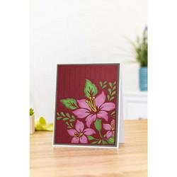 Gemini 3D kohokuviointikansio ja sapluuna Beautiful Lilies