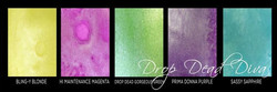 Lindy's Stamp Gang Shimmer Magicals -jauheet, Drop Dead Diva