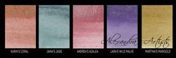 Lindy's Stamp Gang Shimmer Magicals -jauheet, Alexandra's Artists