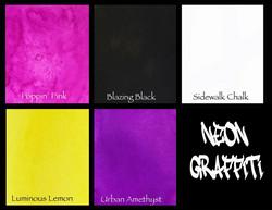 Lindy's Stamp Gang Flat Magicals -jauheet, Neon Graffiti
