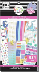 Mambi Happy Planner Value Pack -tarrapakkaus Work It Out Fitness