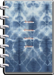 Mambi Mini Planner -kalenteri, Indigo Tie Dye, 12 kk päivätty