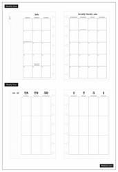 Mambi Mini Planner -kalenteri, Jungle Vibes, 12 kk päivätty