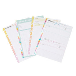 Mambi Classic Savvy Saver Filler Paper paperipakkaus, Debt Payoff Tracker
