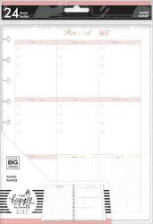 Mambi Classic Minimalist Filler Paper paperipakkaus, Weekly Schedule