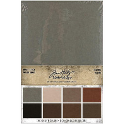 Tim Holtz Idea-Ology paperikko Kraft-Stock Neutral