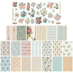 Tim Holtz Idea-Ology Worn Wallpaper Scraps -pakkaus, 5