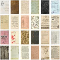Tim Holtz Idea-Ology Backdrops -paperipakkaus, 6