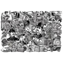 Tim Holtz Idea-Ology Die-Cut -leikekuvat, Engraving, 78 kpl