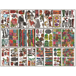 Dyan Reaveley's Dylusions Collage Sheets -paperipakkaus, setti 4