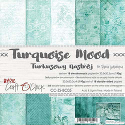 Craft O'clock paperipakkaus Turquoise Mood, 8
