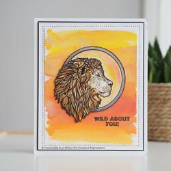 Creative Expressions Lion -leimasin