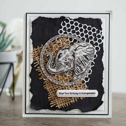 Creative Expressions Elephant -leimasin