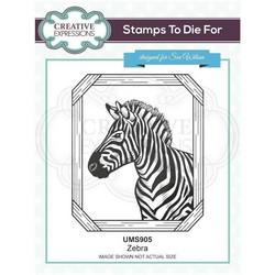 Creative Expressions Zebra -leimasin
