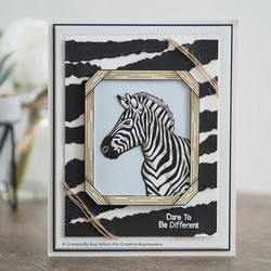 Creative Expressions stanssi Zebra