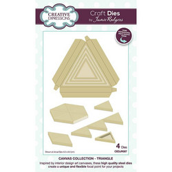 Creative Expressions stanssi Canvas Collection Triangle