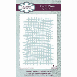 Creative Expressions stanssi Shabby Basics Cheesecloth