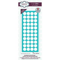 Creative Expressions stanssi Slimline Large Circles Background