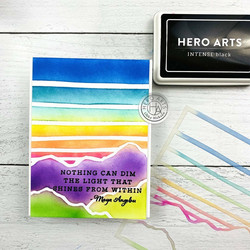 Hero Arts sapluuna Gradient Sky & Moutains