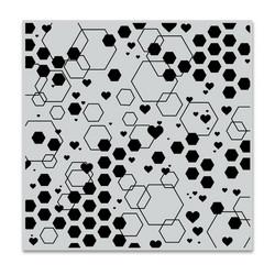 Hero Arts leimasin Abstract Honeycomb Bold Prints