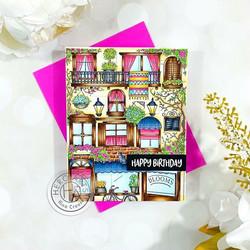 Hero Arts leimasin Flower Shop Background