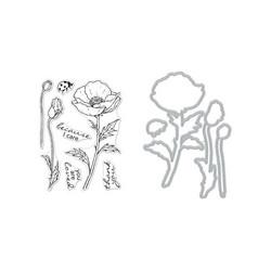 Hero Arts leimasin- ja stanssisetti Florals Poppy