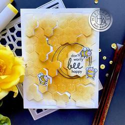 Hero Arts stanssisetti Peek-A-Boo Honeycomb