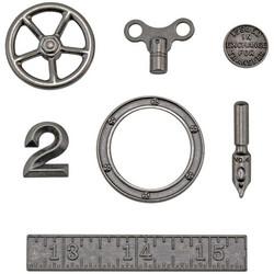 Tim Holtz Idea-Ology Metal -koristeet, Odds & Ends