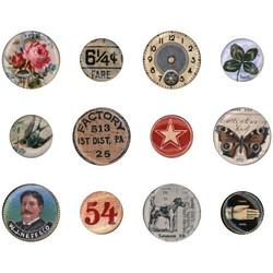 Tim Holtz Idea-Ology Mini Flair Buttons -koristeet