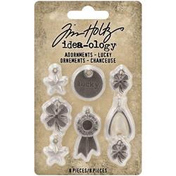 Tim Holtz Idea-Ology Metal Adornments -koristeet Lucky