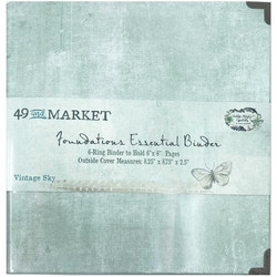 49 and Market Foundations Essential Binder- kansio, Vintage Sky
