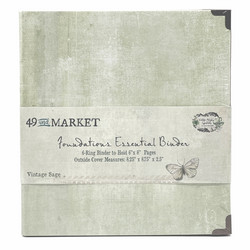 49 and Market Foundations Essential Binder- kansio, Vintage Sage