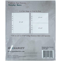 49 and Market Foundations Page Protectors -taskut Everyday Basics