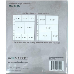 49 and Market Foundations Page Protectors -taskut Mix It Up