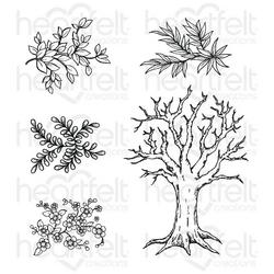 Heartfelt Creations Cottage Tree 'scapes -leimasin
